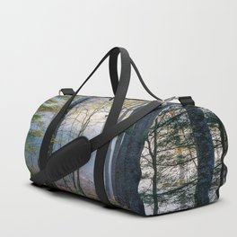 Mystic Forest - Early Morning Glow in Smoky Mountains Duffle Bag