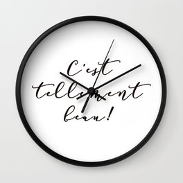 It's so beautiful French Quote Black and White Home Decor Wall Clock