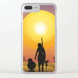 Walking in the desert Clear iPhone Case