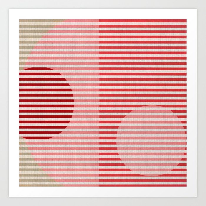 Stripes & Circles 1 Art Print