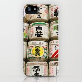 Sake barrels iPhone Case