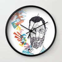 matisse Wall Clocks featuring Matisse by Le Hello