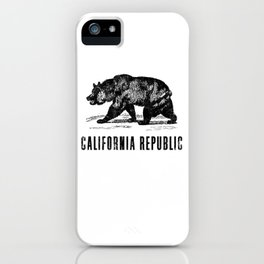 Vintage California State Flag product iPhone Case