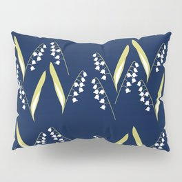 Lily of the Valley in Blue Pillow Sham