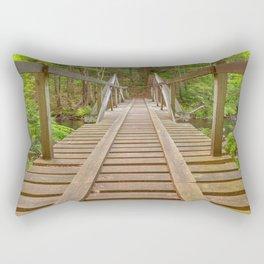 Forest Track Bridge Rectangular Pillow