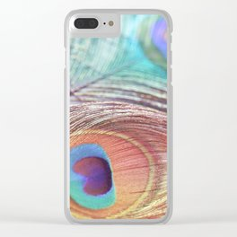 Pastel Boho Peacock Clear iPhone Case