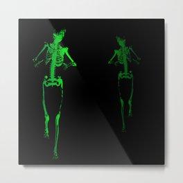 Skeleton Stalker Metal Print