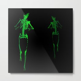 Skeleton Stalker Metal Print