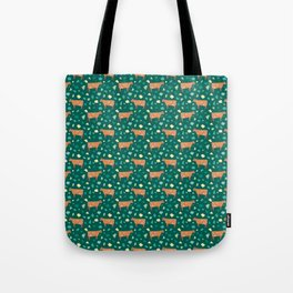 Jersey Terrazzo // Forest Green Tote Bag