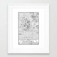 oakland Framed Art Prints featuring Oakland  by Hollyce Jeffriess Designs