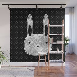 Funny hare, hare, funny rabbit, simple Wall Mural