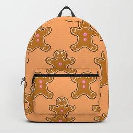 Brown Gingerbread Men Backpack