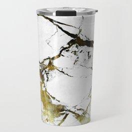 Gold-White Marble Impress Travel Mug