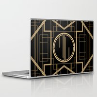 the great gatsby Laptop & iPad Skins featuring MJW- GREAT GATSBY STYLE by MATT WARING