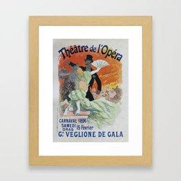 Carnaval, 1896 French Vintage Opera Poster Jules Cheret Framed Art Print