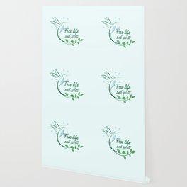 Hummingbird Free Life Quote Wallpaper