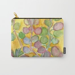 Warm and Cool, Soft Colored Succulent Carry-All Pouch