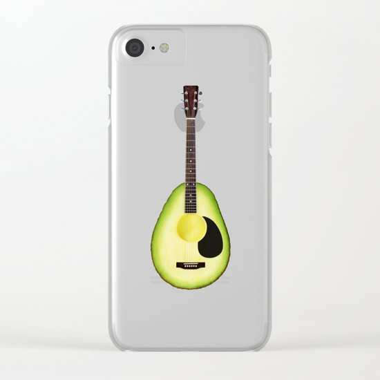 AVOCADO GUITAR Clear iPhone Case