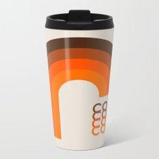 Coffee Mug - Brown Rainbow Metal Travel Mug
