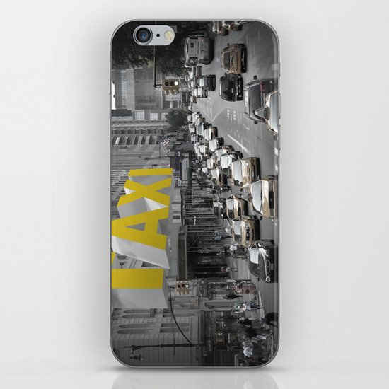 New York Taxi in the air iPhone & iPod Skin