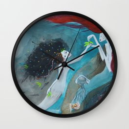 The little mermaid_Illustration Wall Clock