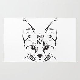 Cute cat face Rug