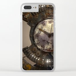 Steampunk Vogue Clear iPhone Case