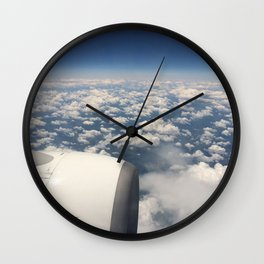 Airplane View Wall Clock