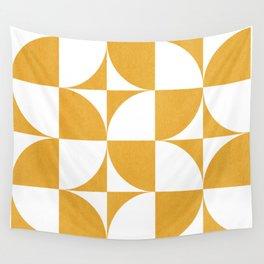 Quadrants (Mustard Yellow) Wall Tapestry