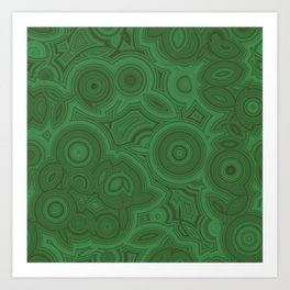 Green Agate Art Print