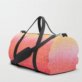 Watercolor Sunset Stripe Duffle Bag