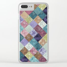 Abstract Geometric Background #27 Clear iPhone Case