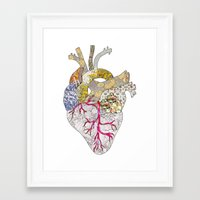 ellie goulding Framed Art Prints featuring my heart is real by Bianca Green