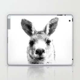 Black and white kangaroo Laptop & iPad Skin