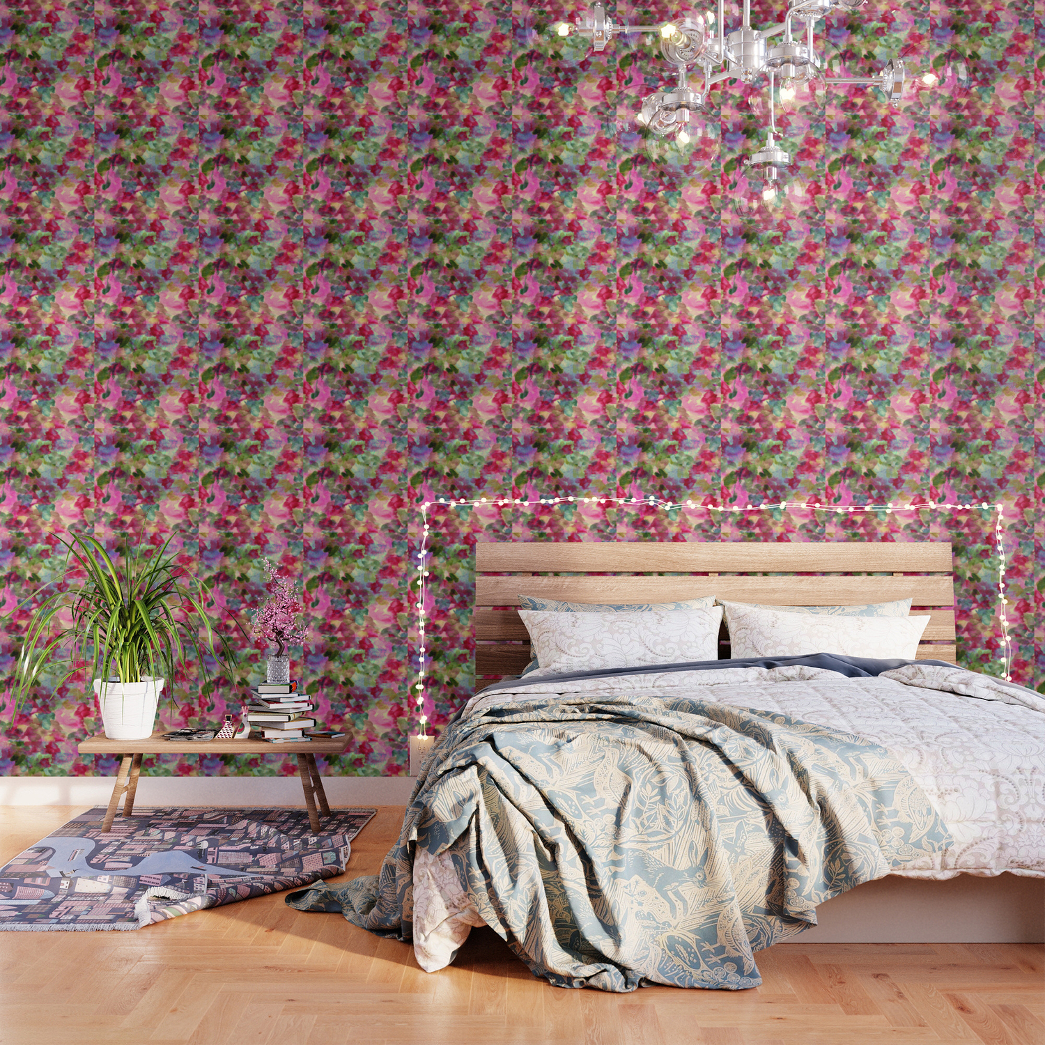 Watercolor Abstract Floral Wallpaper By Clemm Society6