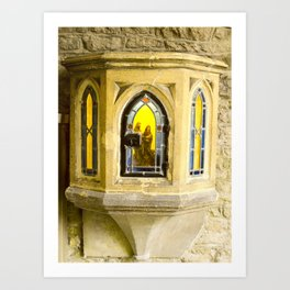 Nativity in Ancient Stone Wall Art Print