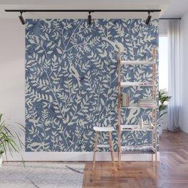 Wonderlust blue#Birds let's run away Wall Mural