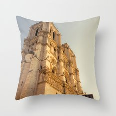 Paris Cathedral Notre Dame  Throw Pillow