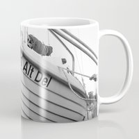 boat Mugs featuring boat by habish