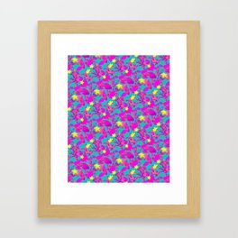 Star Cactus in Neon Pink Framed Art Print