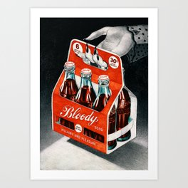 Bloody Drink 2 Art Print