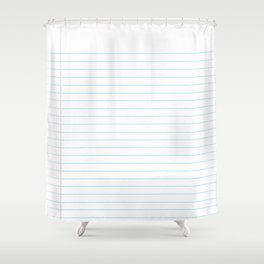 Notebook Paper Digital Watercolor School Chalk Shower Curtain