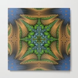 Fractal Ellipse Metal Print