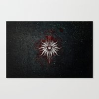 dragon age inquisition Canvas Prints featuring The Inquisition by Toronto Sol