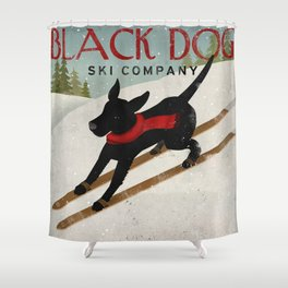 Black Dog Ski Co. Shower Curtain
