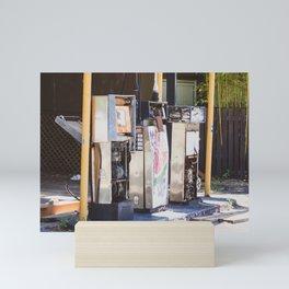 Abandoned Gas Station. Australia. Mini Art Print