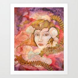 Lady Cnidaria Art Print