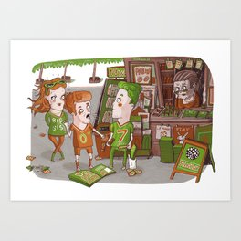 Panini collecting fever Art Print
