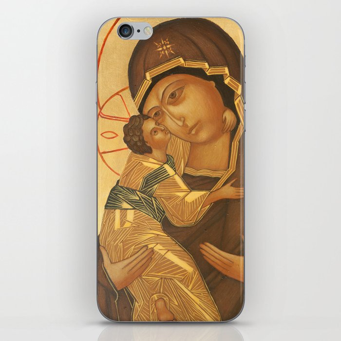 Orthodox Icon of Virgin Mary and Baby Jesus iPhone Skin