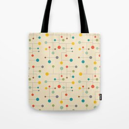 Mid-Century Dots Pattern Tote Bag